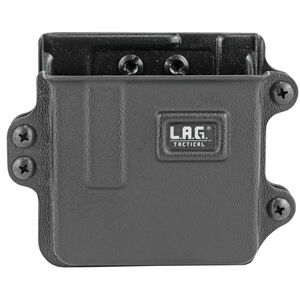 L.A.G Tactical Inc Single Rifle Magazine Carrier AR-10/M1A/FAL/SCAR-17/AICS SA Magazines Belt Clip Attachment System Kydex Construction Matte Black