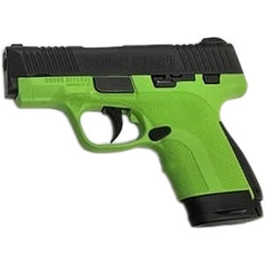 """Honor Guard Sub-Compact 9mm Luger Semi Auto Pistol 3.2"""" Barrel 7 Rounds No Safety Polymer Acid Green"""