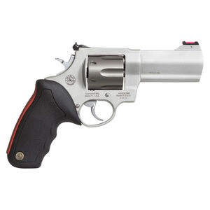 "Taurus Raging Bull 444 Multi 44 Mag Double Action Revolver 4"" Barrel 6 Rounds Fiber Optic Sight Matte Natural Anodized Finish"