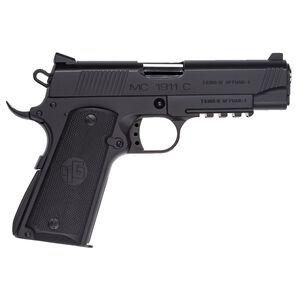 "EAA GiRSAN MC1911C Commander Model 9mm Luger Semi Auto Pistol 4.4"" Barrel 9 Rounds Ambidextrous Safety Matte Black Finish"