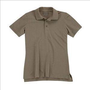 5.11 Tactical Woman's Short Sleeve Utility Polo Shirt Cotton Polyester Medium Heather Grey 61173