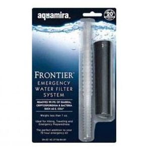Aquamira Compact Frontier Filter Straw Black/Clear 67109