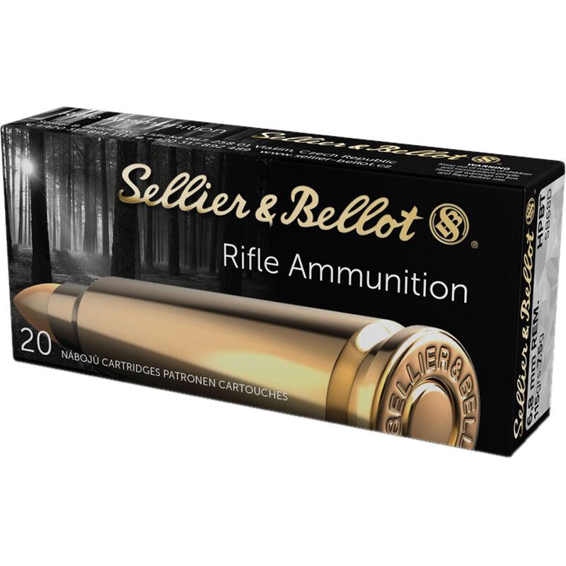 Sellier & Bellot Target/Match 6.8 SPC Ammunition 20 Rounds 115 Grain HPBT 2477fps