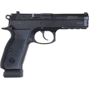 "TriStar P120 Semi Auto Pistol 9mm Luger 4.7"" Barrel 17 Rounds Checkered Polymer Grips Cerakote Black 85080"