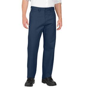 Dickies Men's Industrial Flat Front Pants Polyester / Cotton Waist 40 Length 32 Navy LP812