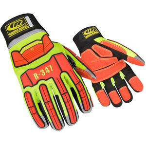 Ringers Gloves Extrication Rescue Glove 2XL Hi-Vis Yellow