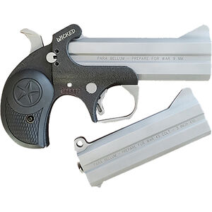"""Bond Arms Limited Edition Wicked Package 9mm Luger and .45 LC/.410 Derringer 4.25"""" Barrels Fixed Sights Rubber Grip Black/Stainless Finish"""