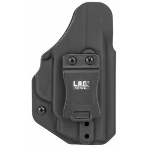 LAG Tactical Liberator MK II Series OWB/IWB Holster for S&W M&P Shield M2.0 Crimson Trace Laser Models Ambidextrous Draw Kydex Construction Matte Black Finish