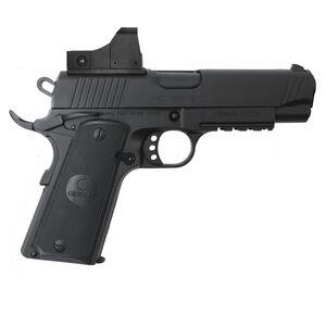 "EAA GiRSAN MC1911C Commander Model 9mm Luger Semi Auto Pistol 4.4"" Barrel 9 Rounds Red Dot Optic Ambidextrous Safety Black Finish"