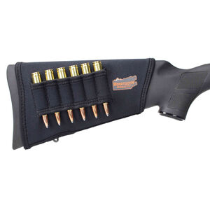 Beartooth Products StockGuard 2.0 Right Hand Rifle Stock Cover with Ammo Carrier Black