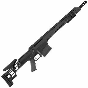 """Barrett Firearms Manufacturing MRAD Bolt Action Rifle .308 Winchester 17"""" Barrel 10 Rounds Folding Stock Anodized Black Finish 14342"""
