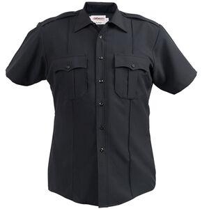 Elbeco Textrop2 Men's Short Sleeve Shirt Neck 19 100% Polyester Tropical Weave Navy