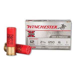 """Winchester 12-Gauge 2.75"""" Shotshells Super X #1 Buck 5 Rounds"""