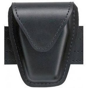 Safariland Model 190 Handcuff Pouch Hinged Cuffs Top Flap Chrome Snap SafariLaminate Plain Black 190H-2HS