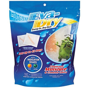 Eva-Dry Eliminator Pouch Moisture and Odor Absorber Twin Pack 150 Cubic Feet Coverage 2 Pack E-150