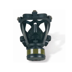 Survivair Opti-Fit CBRN (NIOSH)Mask 5 point Strap 3 Canister Mounting Locations Medium Butyl Rubber 40mm Threads
