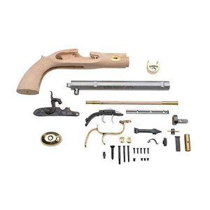 "Traditions Trapper Pistol Kit Muzzleloader Black Powder Pistol .50 Caliber 9.75"" Barrel Unfinished Wood Stock Silver Finish KRC51002"