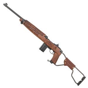 "Auto-Ordnance Airborne WWII M1 Carbine Semi Auto Rifle .30 Carbine 18"" Barrel 15 Rounds WWII Tribute Engraved Walnut Para-Trooper Side Folding Stock Parkerized Finish"