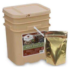 Wise Company Grab and Go Survival Food Bucket 60 Servings of Emergency Freeze Dried Meat/20 Servings of Rice Long Term Storage 15 Year Shelf Life