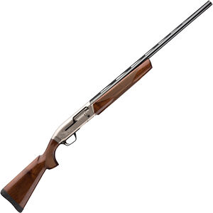 "Browning Maxus Hunter 12 Gauge Semi Auto Shotgun 26"" Barrel 3"" Chamber 4 Rounds Brass Bead Front Sight Walnut Stock Two Tone Nickel/Blued Finish"