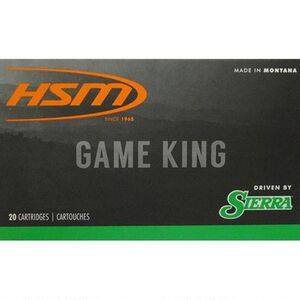 HSM Game King .300 Wby Mag Ammunition 20 Rounds 150 Grain Sierra SBT