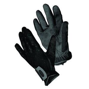 Bob Allen Shotgunner's Gloves Large Mesh Body Suede Palm Velcro Wrist Strap Black