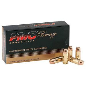 PMC Bronze .40 S&W 180 Grain FMJ-FP 50 Round Box