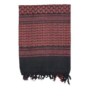 Voodoo Tactical Woven Coalition Desert Scarves Cotton 42 x 42 Black Red
