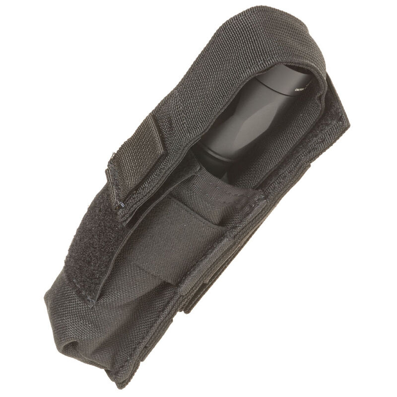 Tac Shield Suppressor/Large Light Belt Pouch Nylon Black