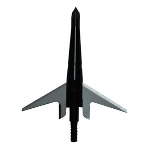 "Swhacker Products Two Blade Mechanical Broadheads 125 Grain 2.25"" Cutting Diameter High Carbon Steel Tip Stainless Steel Blades Anodized Aluminum Body Black 3 Pack SNJ-580-UTLXX"