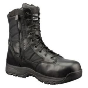 "Original S.W.A.T. Metro Safety Boots 9"" Waterproof Side Zip Leather/Nylon Rubber Size 7.5 Regular Black 129101-07.5/EU40"