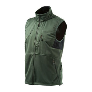 Beretta Men's Soft Shell Fleece Vest Sleeveless Size Medium Fleece Green