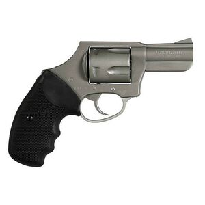 """Charter Arms Bulldog Revolver .44 Special 2.5"""" Barrel Concealed Hammer 5 Rounds Black Rubber Grips Stainless Steel Finish"""
