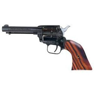 """Heritage Rough Rider Revolver 22LR And 22WMR 4.75"""" Barrel Alloy Blue Cocobolo Grips 9 Round Fired Case Fixed Sights 22999MB4"""