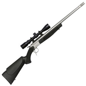 """CVA Scout Outfit Single Shot Break Action Rifle .444 Marlin 25"""" Fluted Stainless Steel Barrel Konus 3-9x32 Scope CrushZone Recoil Pad Synthetic Forend/Stock Matte Stainless Finish"""