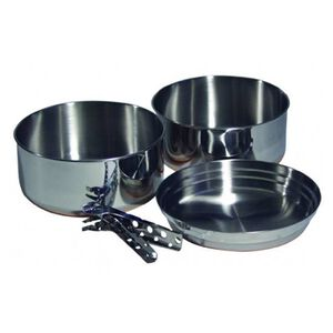 Chinook Plateau Cookset 4 Piece Stainless Steel 41030