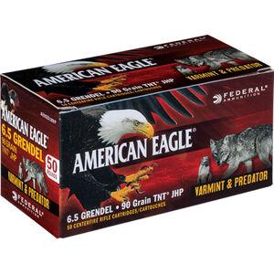 Federal American Eagle 6.5 Grendel Ammunition 50 Rounds 90 Grain Speer TNT JHP Bullet 3000fps