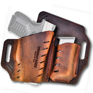 Versacarry Guardian Holster with Magazine Pouch SIG Sauer P365 OWB Right Hand Water Buffalo Leather Distressed Brown GM365BRN