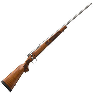 """Winchester Model 70 Featherweight .243 Winchester Bolt Action Rifle 22"""" Barrel 5 Round Satin Finish Dark Maple Wood Stock Stainless Steel Finish"""