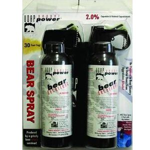 UDAP Premium 7.9 oz Bear Spray with Holster 2 pack BS2