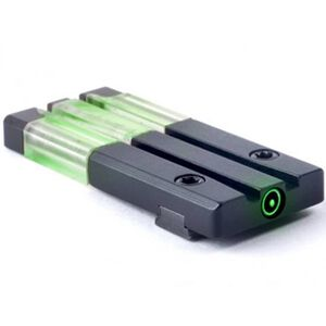 Mako Group Mepro FT Bullseye Micro Optic Pistol Sight Fiber Optic/Tritium Green Remington R1 Models Alloy Housing Matte Black Finish