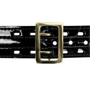 "Safariland Model 87 Suede Lined Belt w/Buckle 2.25"" Hi Gloss Black Brass Fastener Size 38"" 87-38-9B"