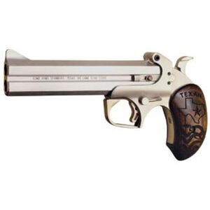 """Bond Arms Texan .45 LC/.410 Bore Derringer 6"""" Barrels 2 Rounds Rosewood Grip Stainless Steel Finish"""