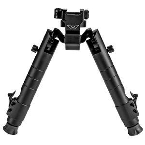 "Warne Skyline Precision Bipod Picatinny Interface 6.9"" to 9.1"" Leg Extension Matte Black"