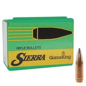 "Sierra 6mm .243"" Diameter GameKing SBT 100 Grain Bullets 100 Pack"