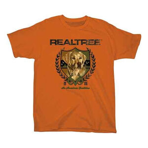 Realtree Youth's Lab Crest Short Sleeve T Shirt Med Cotton Texas Orange