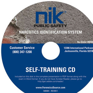 Safariland NIK Public Safety Narcotics Identification System Self Training CD EA