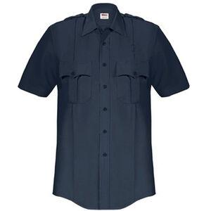 Elbeco Paragon Plus Men's Short Sleeve Shirt Med Polyester Cotton Midnight Navy
