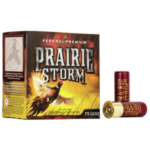 "Federal Prairie Storm 12 Gauge Ammunition 3"" #4 Lead Shot 1-5/8 Ounce 1350 fps"