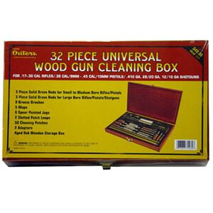 Outers Cleaning Kit Universal 32 Piece Wood Box 70080